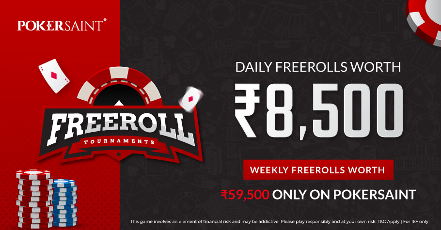 Sign Up On PokerSaint To Boost Your Bankroll With Daily Freerolls