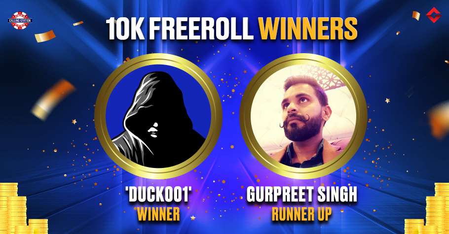 Mystery Player 'duck001' Wins Gutshot's 10K Freeroll On Calling Station