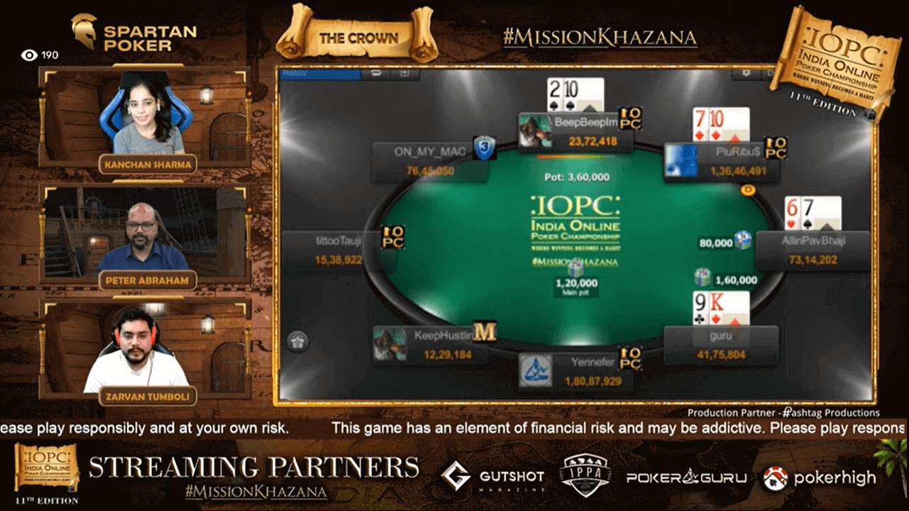 IOPC July 2021 – The Crown Main Event Final Table