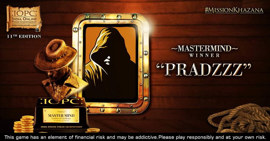 Mystery Player 'Pradzzz' Wins IOPC July 2021 Mastermind Title