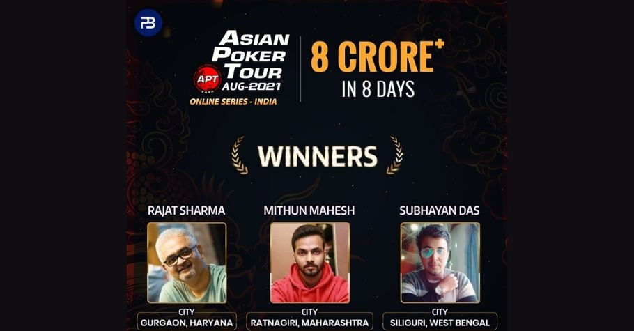 Asian Poker Tour Online Series- India Concludes On A High Note, With Participation From Over 25000 Highly Skilled Poker Players
