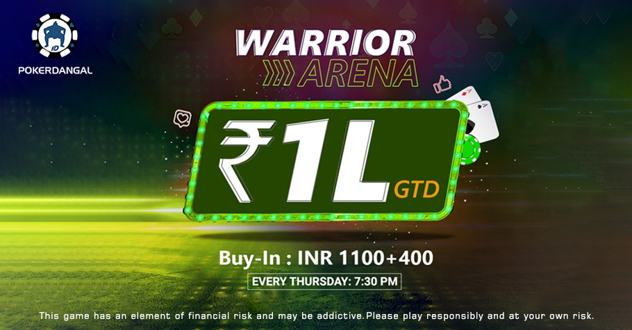 PokerDangal's Warrior Arena Bounty Event Offers 1 Lakh Guarantee