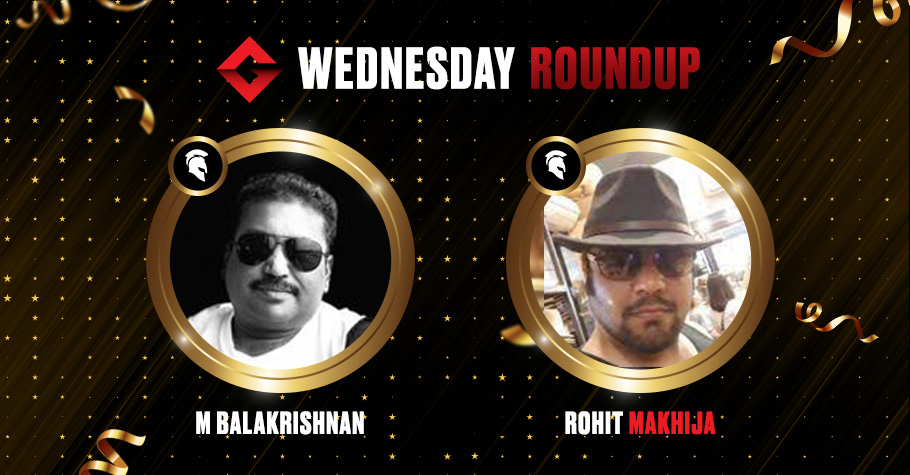 Wednesday Round Up: M Balakrishnan Ships Spartan Poker's Destiny For 4,96,287