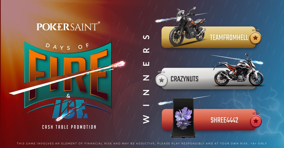 PokerSaint's Days Of Fire & Ice Series Concludes On A High Note