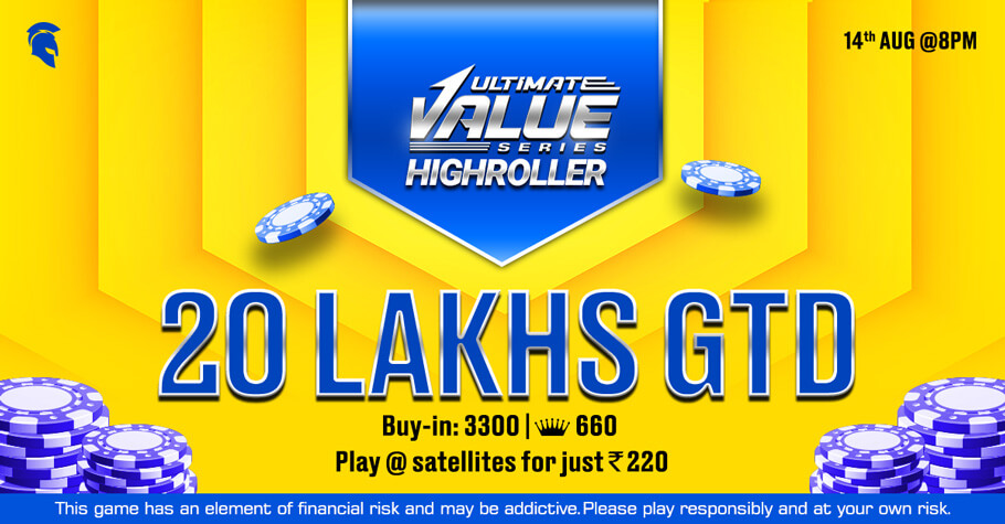 Claim The UVS Highroller Title & Win From A 20 Lakh GTD Event