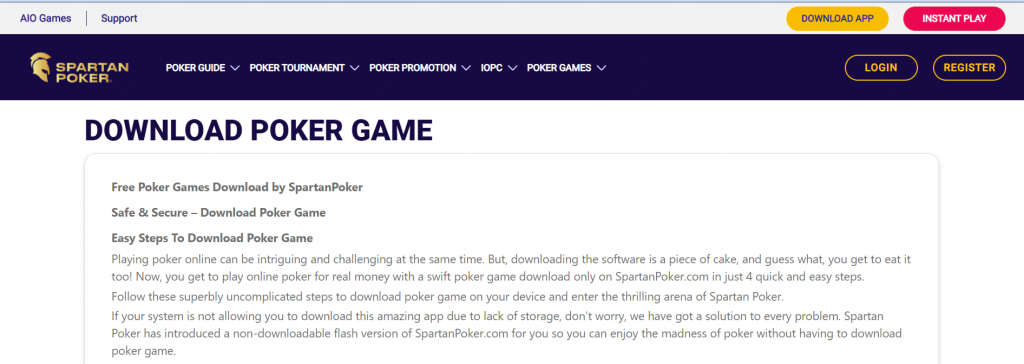 How To Play On Spartan Poker?