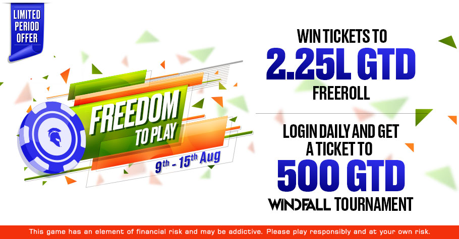 'Freedom To Play' Series On Spartan Poker Lets You Win FREE Tickets & Loads Of Cash