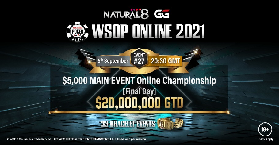 The WSOP $5,000 MAIN EVENT Online Awaits On Natural8! Sign Up To Play!