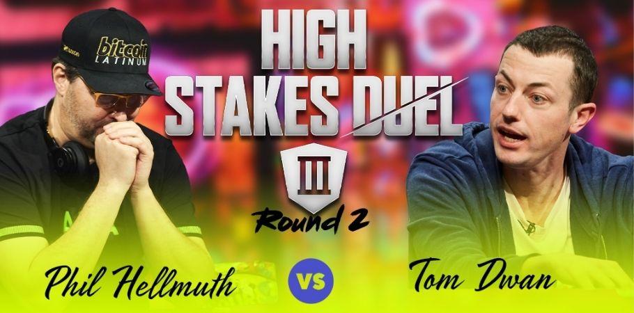 Tom Dwan Beats Phil Hellmuth At High Stakes Duel III, Breaks Hellmuth's Winning Streak
