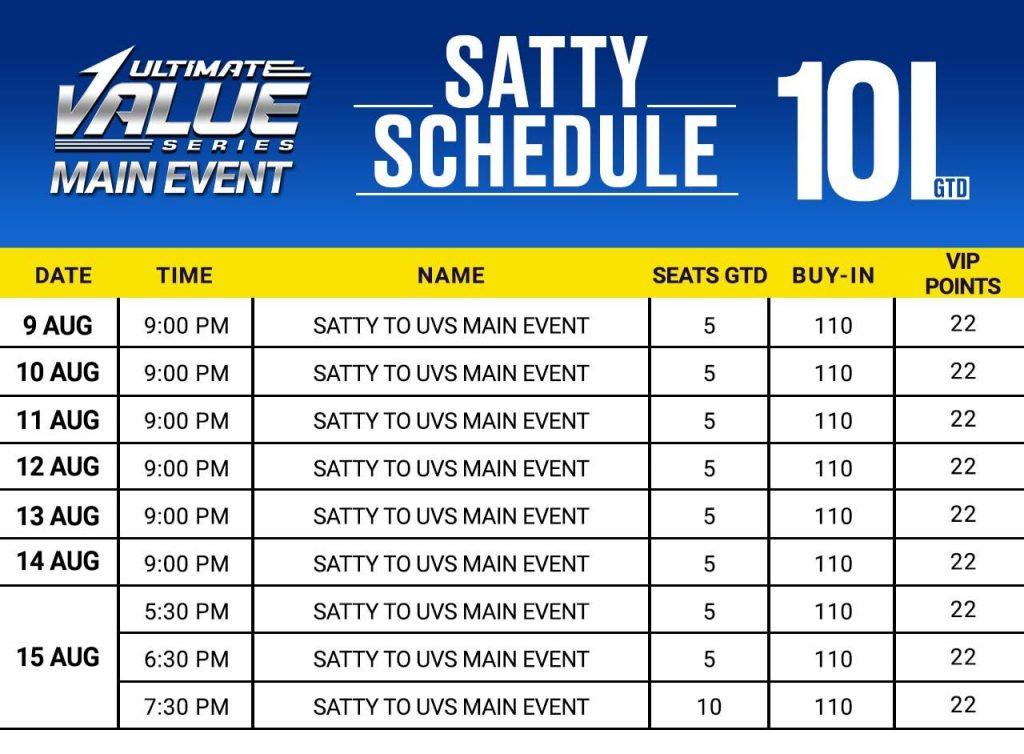 Slay UVS Main Event Sattys Only On Spartan Poker