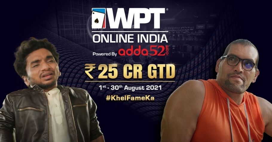 Adda52 launches WPT India Online campaign with Chote Miyaan & Khali