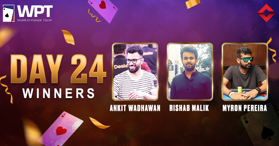 WPT Day 24: Pereira, Malik & Wadhawan Took The Online Felts of Adda52 By Storm After Winning Featured Tourneys