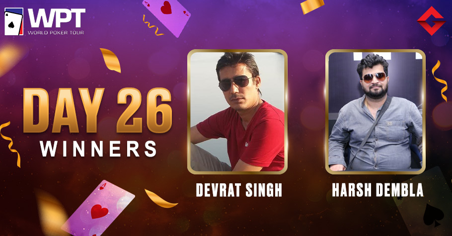 WPT Day 26: Harsh Dembla Clinches Feature Friday Title For 6.6 Lakh