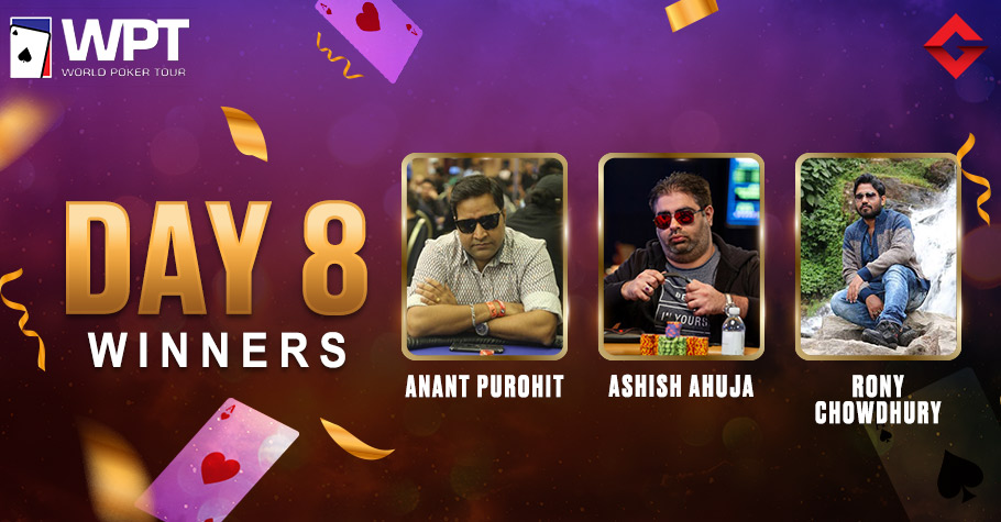 WPT Day 8: Ahuja, Purohit & Chowdhury Slayed The Virtual Felts To Win Big