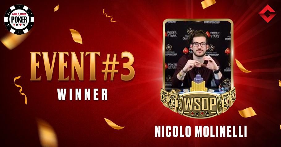 2021 WSOP Online: Chip Leader Nicolo Molinelli Wins Event #3