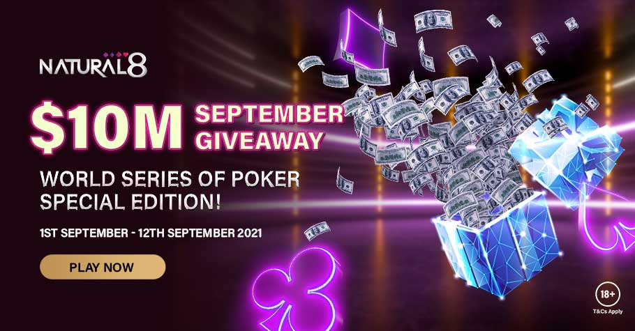 Another $10,000,000 To Be Won In September On Natural8