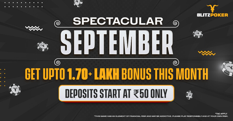 BLITZPOKER'S Spectacular September Promotion Is A Chance For You To Win BIG