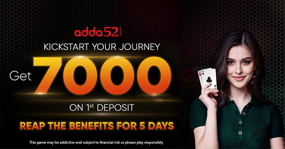 Adda52's Welcome Offer Of 7000, An Offer You Can't Afford To Miss!