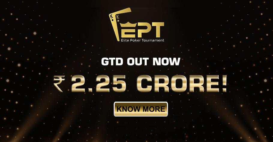 Mammoth 2.25 Crore Guarantee At Upcoming Elite Poker Tournament