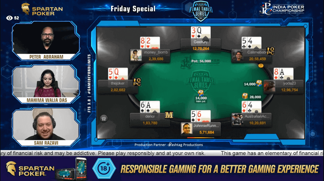FTS 3.0 – Friday Special – 50 Lakh GTD Final Table Live Stream