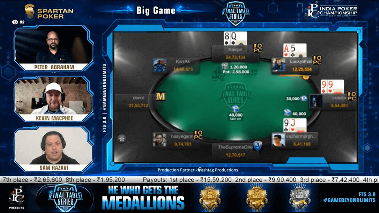 FTS 3.0 – Big Game – 80 Lakh GTD Final Table Live Stream