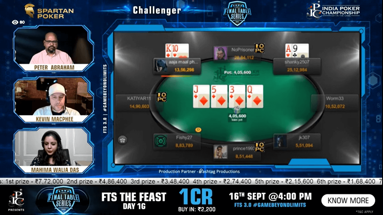 FTS 3.0 – Challenger – 40 Lakh GTD Final Table Live Stream