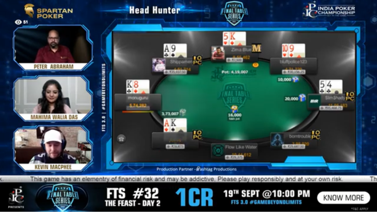 FTS 3.0 – Head Hunter – 40 Lakh GTD Final Table Live Stream