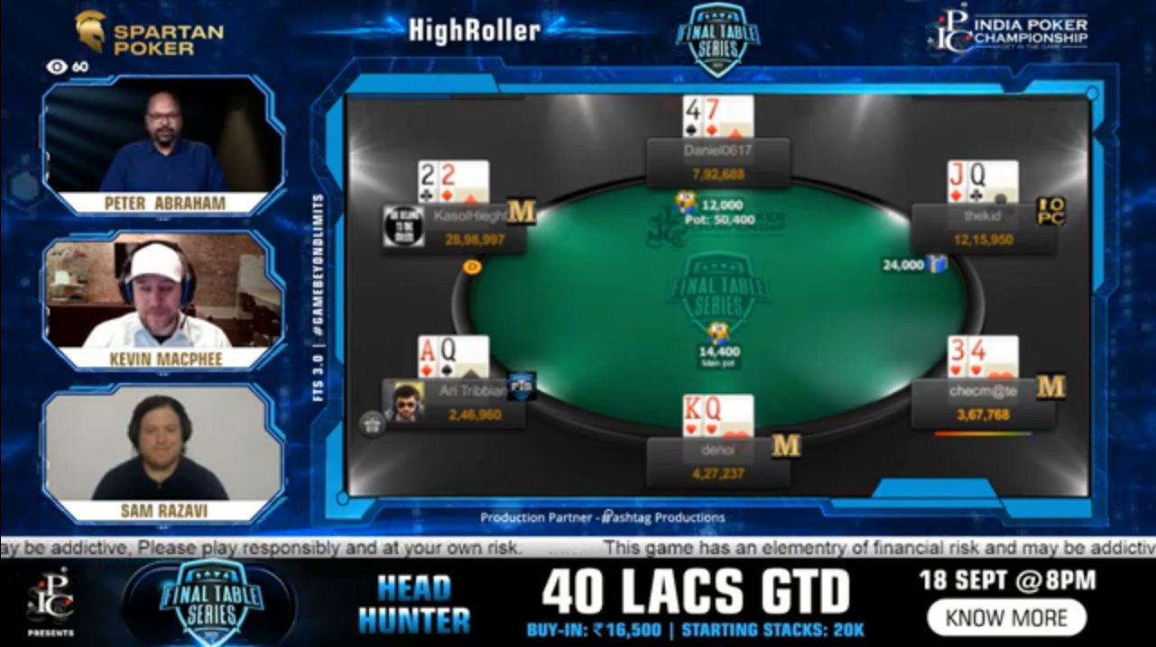 FTS 3.0 – High Roller – 1 Crore GTD Final Table Live Stream