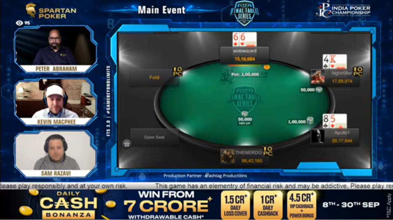FTS 3.0 – Main Event – 2 Crore GTD Final Table Live Stream