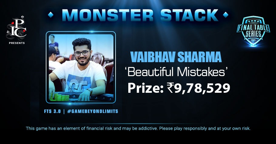 FTS 3.0 Monster Stack Ends In A Deal With Vaibhav Sharma Grabbing The Top Spot