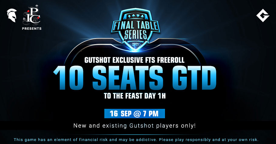 Gutshot Exclusive Freeroll Is Giving Away 10 Seats To FTS 3.0 The Feast! SIGN UP!