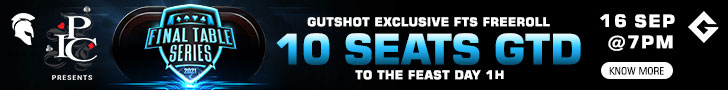 Spartan Poker Gutshot Exclusive FTS Freeroll 10 Seats to The Feast Day 1H