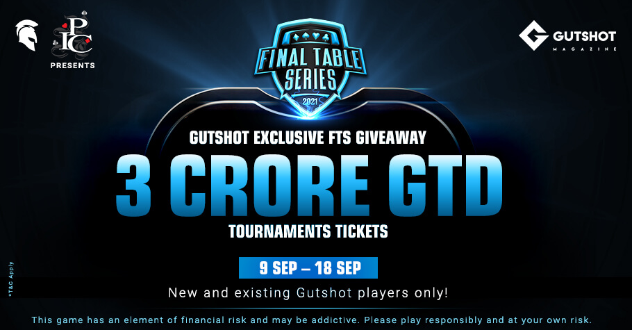 Gutshot Giveaway! FREE Tickets For FTS 3.0 Tourneys Worth 3 Crore Up For Grabs!