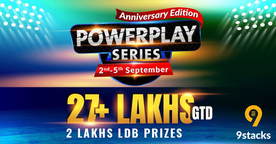 9stacks Powerplay Series: The Anniversary Edition Offers 27+ Lakh In Guarantee & A Leaderboard Worth 2 Lakh