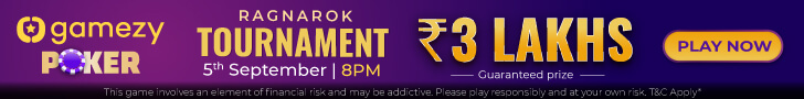 3 Lakh GTD Ragnarok Tournament Coming Soon To Gamezy Poker