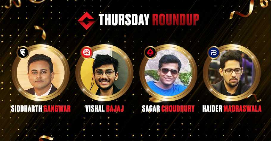 Thursday Round Up: Siddharth Gangwar Ships The Big Deal On Spartan Poker For 7.62 Lakh