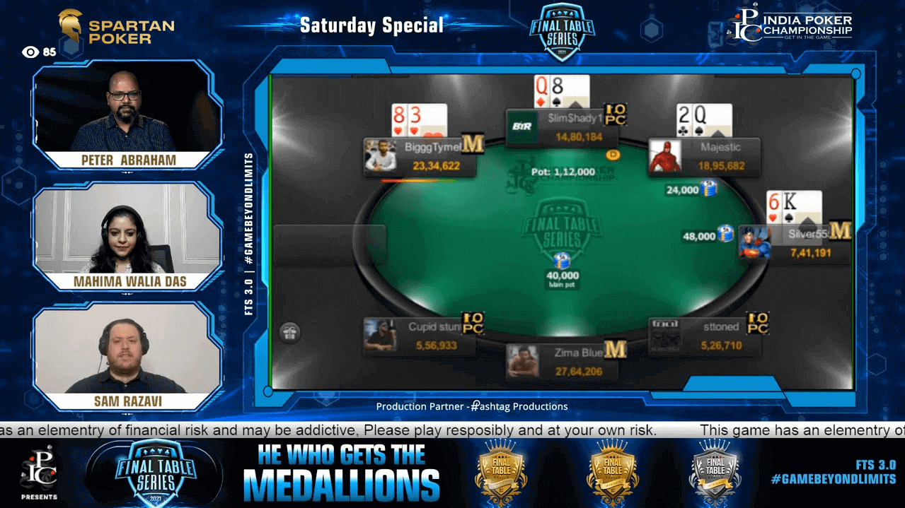 FTS 3.0 – Saturday Special – 40 Lakh GTD Final Table Live Stream