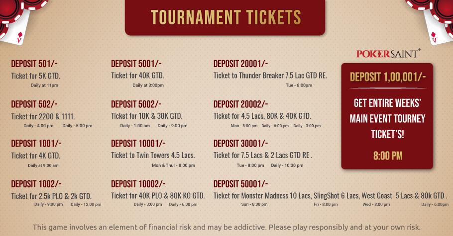 PokerSaint Offers Smashing Deposit Code Offers Everyday