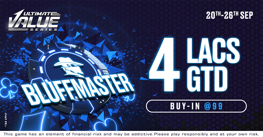 Spartan Poker's UVS Bluffmaster Is A Tournament You Can't Miss!