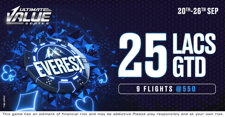 Everest Tournament Worth ₹25 Lakh GTD Awaits You On Ultimate Value Series