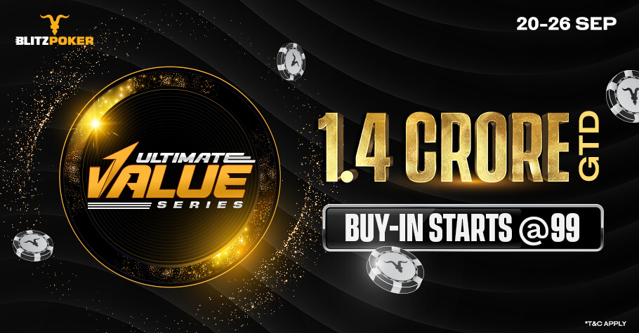 It's Back! The Exciting Ultimate Value Series IS BACK On BLITZPOKER