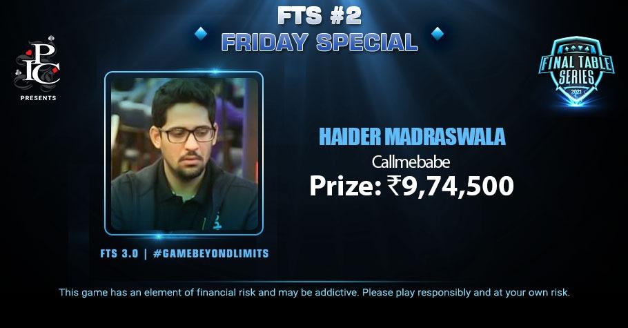 Haider Madraswala Spectacularly Ships FTS 3.0 Friday Special