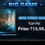 FTS 3.0 Big Game: Aman Kumar Sharma Beats Top Pros To Win The Big Game For 15,59,200