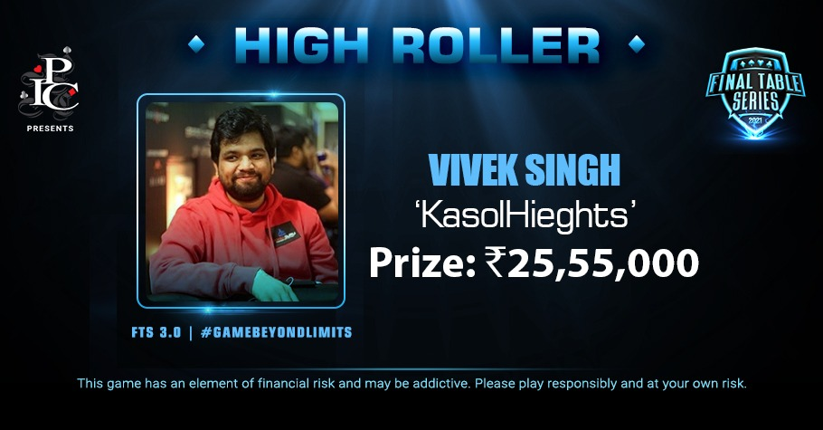 FTS 3.0 #23 High Roller: Vivek Singh Lifts The Title For 25.55 Lakh