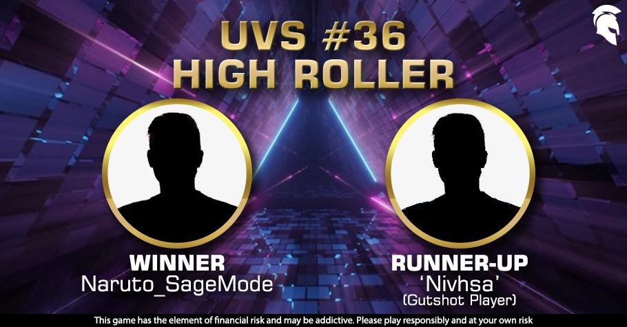 Gutshot Player 'Nivhsa' Wins Big At Spartan Poker's UVS #36 High Roller