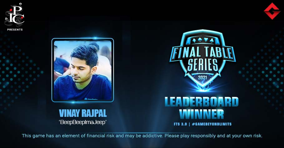 Vinay Rajpal Takes The Number One Spot On FTS 3.0 Leaderboard For 10 Lakh