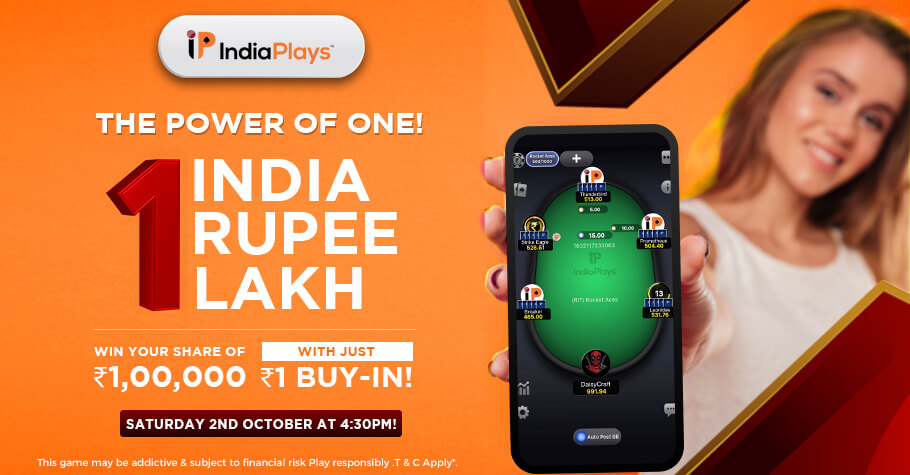 Play 1 Lakh GTD For Buy-In Of Just ₹1 Only IndiaPlays