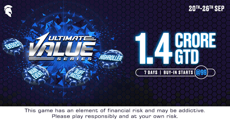 Win Big At Spartan Poker's Ultimate Value Series With 1.4 Crore GTD