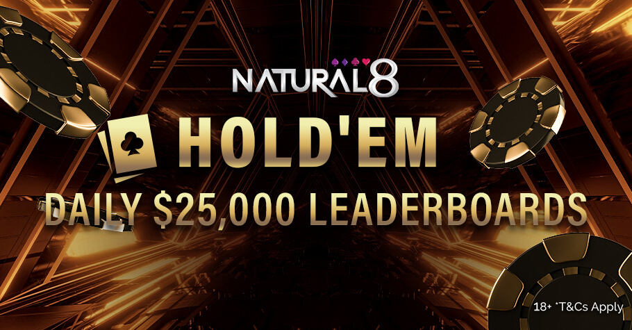 Natural8 Hold'em $20,000 Daily Leaderboard Is An Offer To Die For