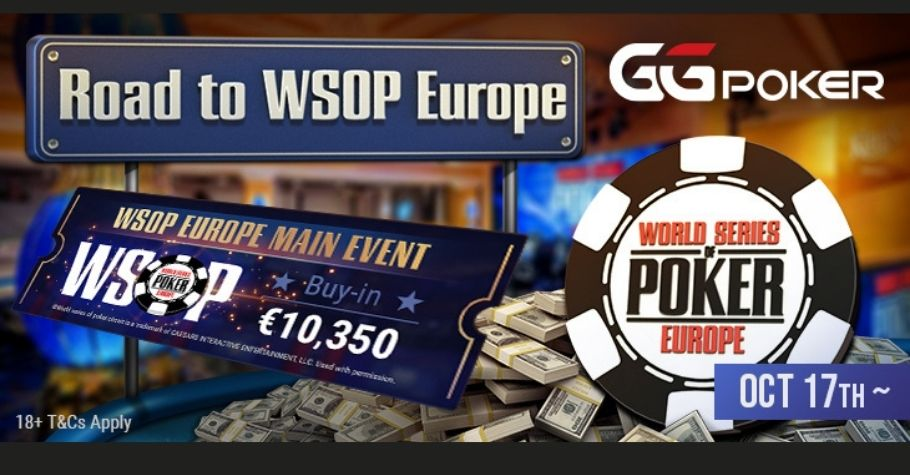 GGPoker Launches The Road To WSOP Europe From 17 October